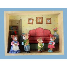 "Mice Shadow Boxes  /""Squeakers"" Figs Family"
