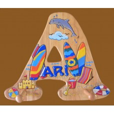 Large Alphabet Letters /SPECIALTY DESIGN /Shore scene