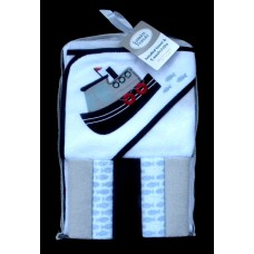 Hooded Towel & 5 Washcloths /Tug Boat