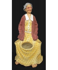 Laura's Garden Figure / Garden Tool Holder or Plant Pot