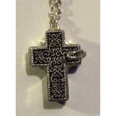 Locket Cross Pendant with Chain