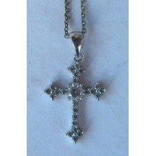 Crystal Cross Necklace