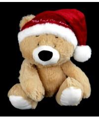 My First Christmas Bear Rattle Plush