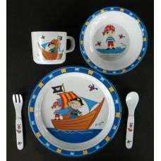 "Dish Sets /5 Pc. Dish Sets /""Pirate Ship"""