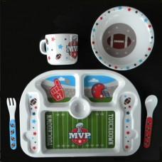 """Dish Sets /5 Pc. Dish Sets /""""Football"""""""