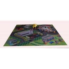 Gas Station Playmat & Toy Truck