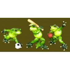 Resin Sports Frogs /Baseball, Soccer or Basketball