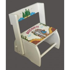 Large Step Stools /NATURAL or WHITE  /Wizard of Oz Characters