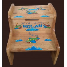 2-Step Stools / No Storage / Special Design /Airplanes and Clouds