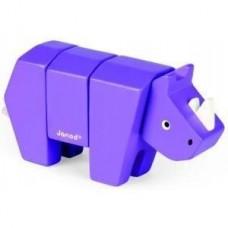 Janod Wooden Magnetic Animal Kit /Rhino