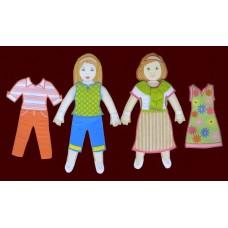 Press 'N Dress Dolls /Two-Doll Set