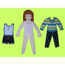 Press 'N Dress-Up Dolls Set /#1