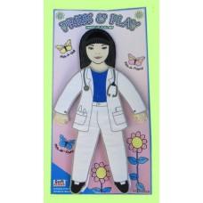 Press & Play Dolls Dress-Up Set /Doctor
