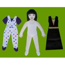 Press 'N Dress-Up Dolls Set /#2