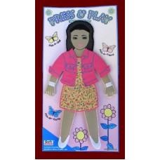 Press & Play Dolls Dress-Up Set /Girl #2