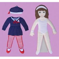 Press & Play Dolls Dress-Up Set /Girl #3