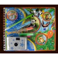 Camera & Memory Books / Photo Album Set:Jungle Animals