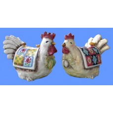 Country Rooster /Hen Banks