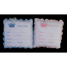 """Little Prince /Princess"" Pillows W/Fabric Pen"