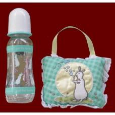 """""""Pat the Bunny"""" Door Hanger & Bottle SET"""