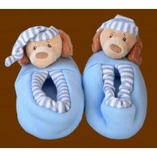 Footsie Rattles /Sleepytime Dogs/ Blue