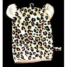 """Bath Mitt /""""Lil' Leopard"""""""