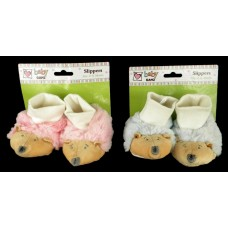 Baby Slippers /Hedgehogs: Blue or Pink