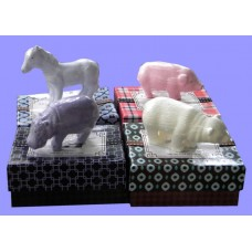 Triple-Milled Soaps /Bear, Hippo, Horse, & Pig