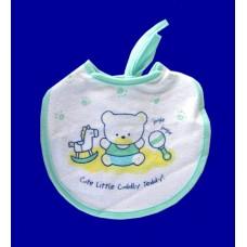 """Terry Cloth Bibs /""""Cute Little Cuddly Teddy"""""""