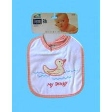 "Terry Cloth Bibs /""My Duckie"" Bibs"
