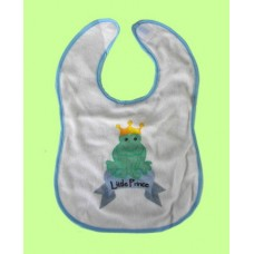 """Terry Cloth Bibs /""""Little Prince"""" Frog"""
