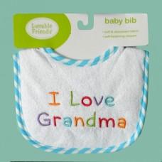 """Bibs /""""I Love Grandma"""""""