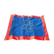 Teddy Bear Blankies /Blue & Red
