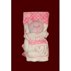 Baby's Lovey Blankie /Pink Bear