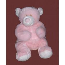 Bellifuls Bears/  Rattle Plush: Large Bear/ Pink