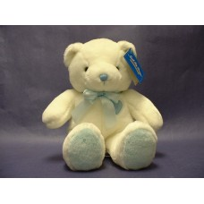 "Teddy Bears 3-""Small Fry"" White/Blue"