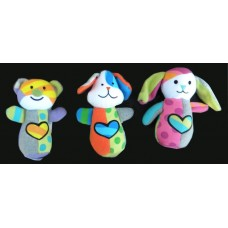 """Hugs For You"" Plush Rattles Bear, Dog or Rabbit"