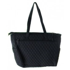 Tote Bags /Adult: Black Quilted