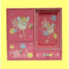 """Musical Jewelry Boxes /""""Ballerina Fairy"""" PINK"""