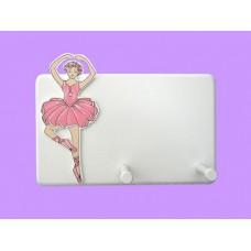 Ballerinas Hang-Up /White 2-Peg Plaque