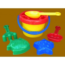 Beach Buckets with Shovel & Accessories 2