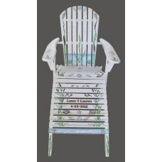 Adirondack Beach Chair & Foot Rest / Custom Sample