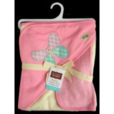 Hooded BathTowel & Washcloth /Butterfly