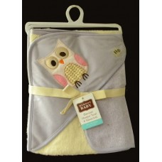 Hooded BathTowel & Washcloth /Owl