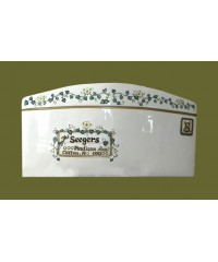 "Ceramic Envelopes: Large /""Ivy & Flowers"""
