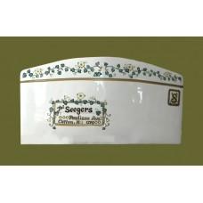 "Ceramic Envelopes: Large /""Ivy & Flowers"""