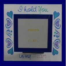 "Glass Picture Frames /""I Hold You in My Heart"""