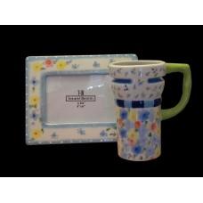 Frame & Mug Sets /Blue Floral