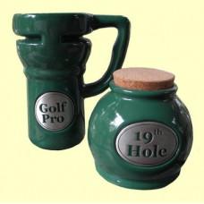 Travel Mugs & Storage Jar Set /Golf