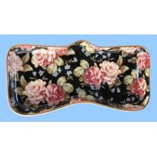 Eyeglass Holders: Black Floral